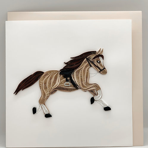 Quilling Card - Horse
