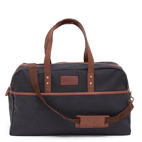 Waxed Black Duffel Bag