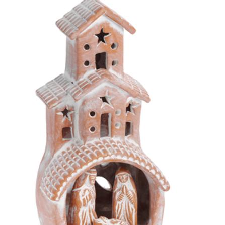 Terracotta Chimney Nativity