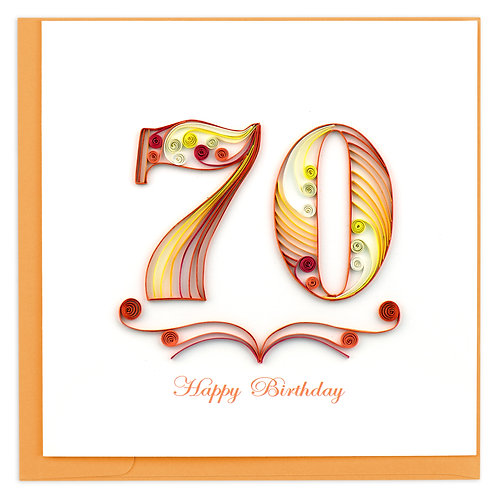 Quilling Card - 70th Birthday