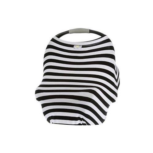 4-in-1 Multi-Use Cover - Black and White Stripe
