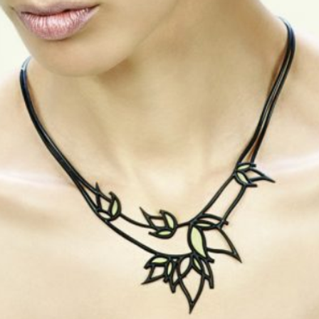 Gold Flame Necklace - Eco-Conscious Art Jewelry