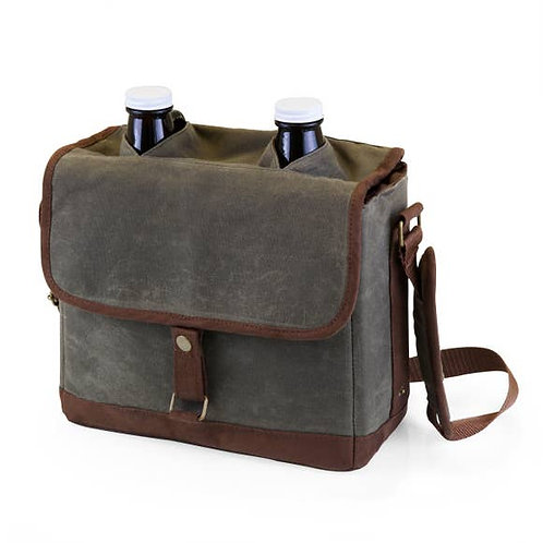 Double-Growler Tote with Growlers