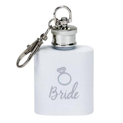 Bride Key Ring Flask