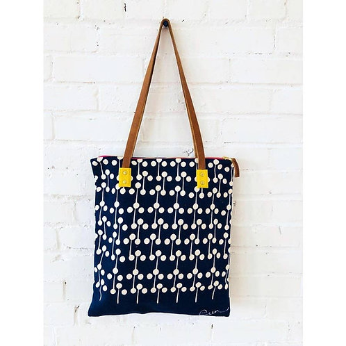 Navy Lollipop Tote Bag from Erin Flett