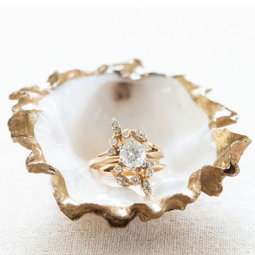 Jewelry Dish from Recycled Oysters - ❤️Grit and Grace