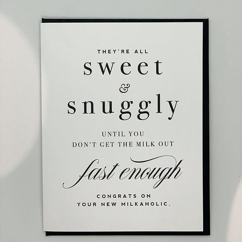 Sweet + Snuggly New Baby Card