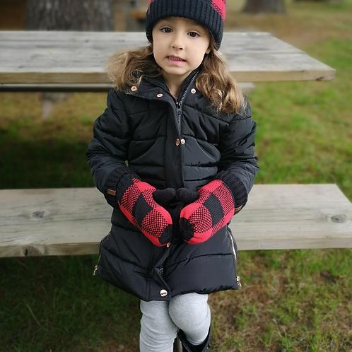 Kids Winter Mittens | Lumberjack Red