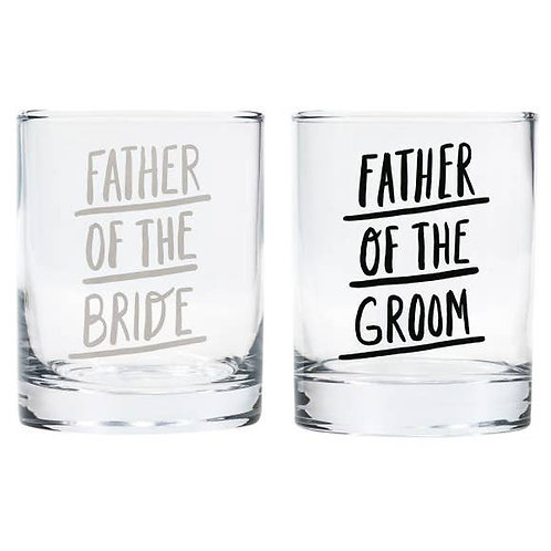 Father of Bride / Groom Rocks Glass Set