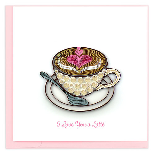 Quilling Card - Love Latté