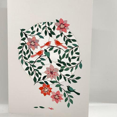 Birds in Spring Sweet Card