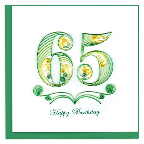 Quilling Card - 65th Birthday