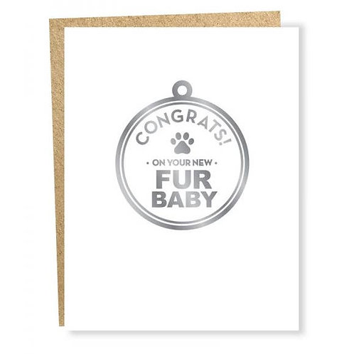 Fur Baby (Silver Foil) Card