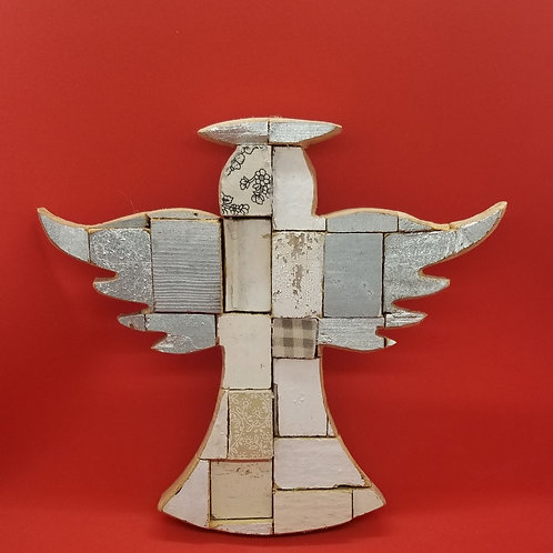 Angel Made of Upcycled Wood