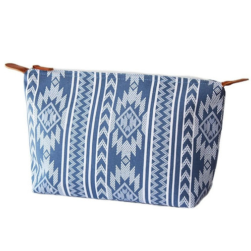French Blue & White Medium Pouch