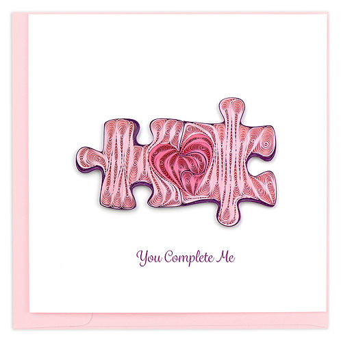 Quilling Card - You Complete Me