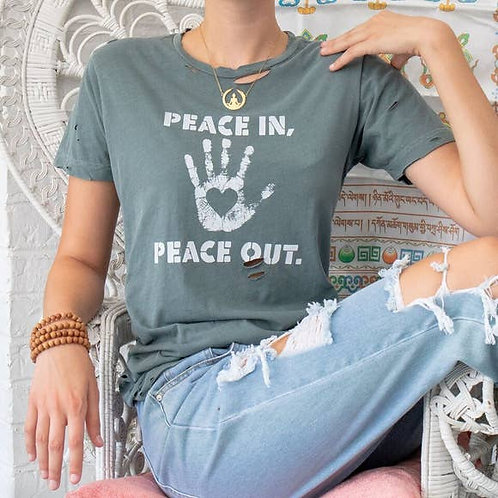 Peace In Peace Out Unisex Tee