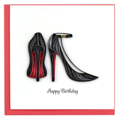 Quilling Card - Red Bottom Heels
