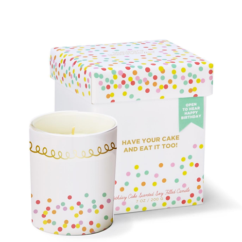 Birthday Cake Scented Singing Candle