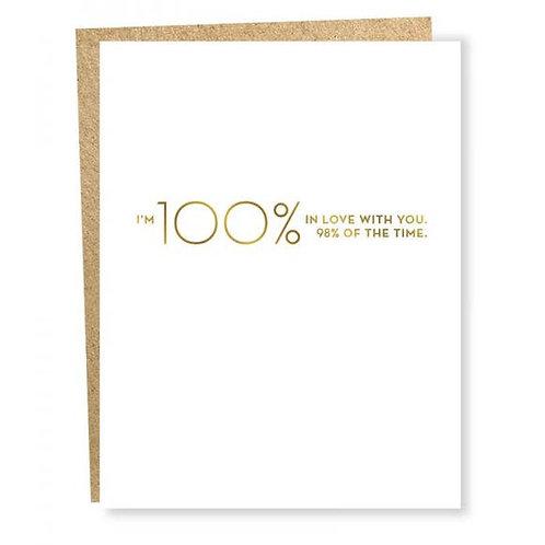 100% Card (Gold Foil)