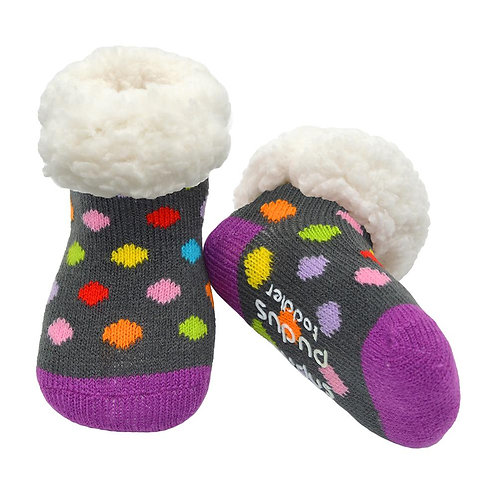 Toddler Classic Slipper Socks | Polka Dot MultiToddler Classic Slipper Socks |