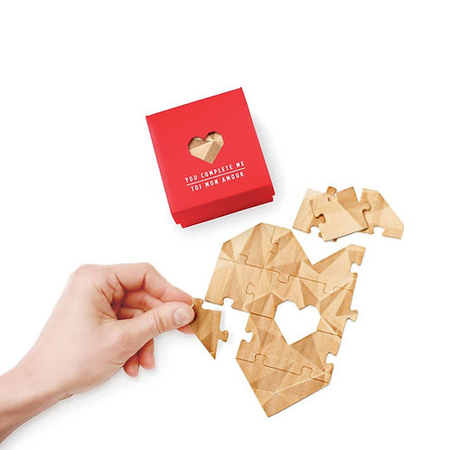 You Complete Me (Heart shaped jigsaw)