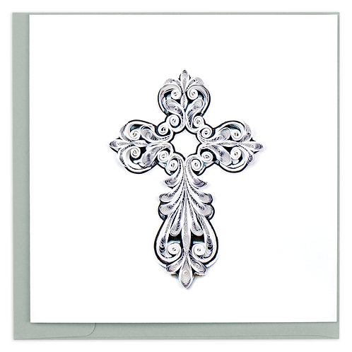 Quilling Card - Cross