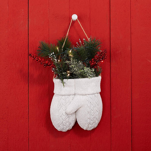 Knitted Mittens LED Hanging