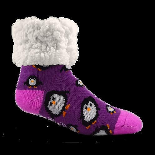 Toddler Classic Slipper Socks | Penguin Purple
