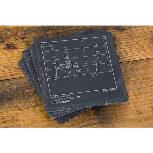 Virginia Tech Football Greatest Plays Coasters