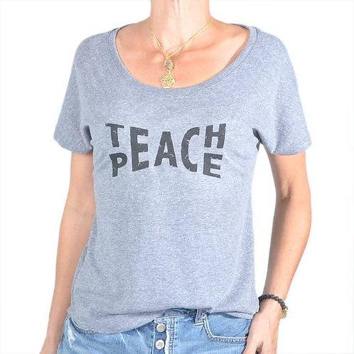 Teach Peace Grey Tee