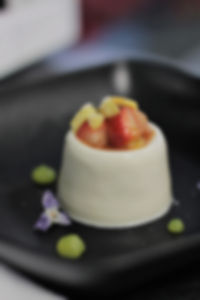 Wild Lavender Panna Cotta/Earl Grey Strawberries/Lemon Gel/Candied Wildflowers