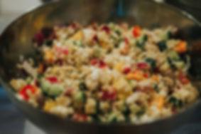 Quinoa/Cucumber/Red Onion/Pepper/Feta