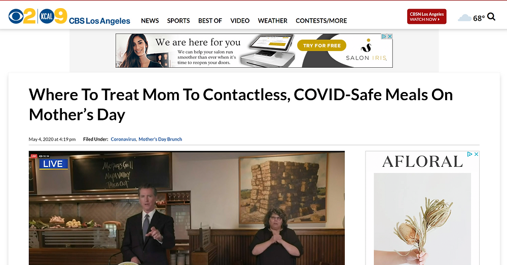 Where To Treat Mom To Contactless, COVID-Safe Meals On Mother's Day