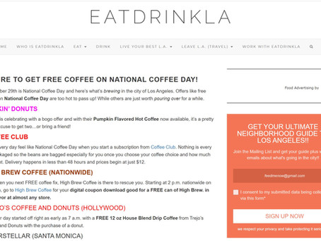 WHERE TO GET FREE COFFEE ON NATIONAL COFFEE DAY!