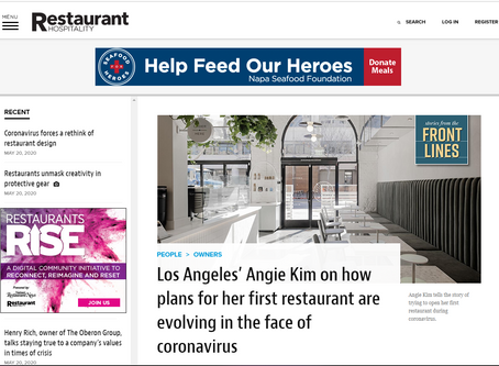 Los Angeles' Angie Kim on how plans for her first restaurant are evolving in the face of coronavirus