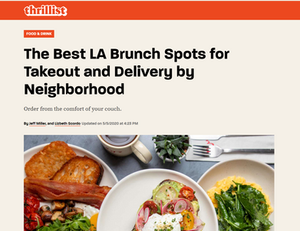 The Best LA Brunch Spots for Takeout and Delivery by Neighborhood