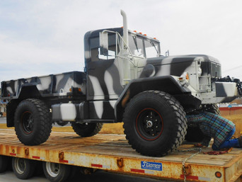 M35A2 Bobbed 2.5 Ton Truck (Arctic Camo)- Picked Up- Utah