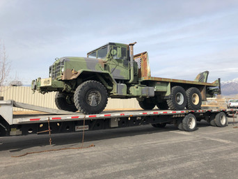 M942A2 900 Series 5 Ton 6x6 w/ Knuckle Boom Crane- Shipped, Utah