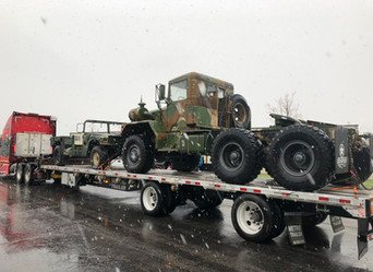 M818 800 Series 5 Ton 6x6 w/ M998 HMMWV Parts Truck- Shipped to New Mexico and Texas