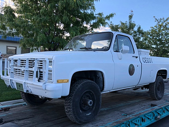 M1008 Chevy Military Pickup- Shipped to Missouri