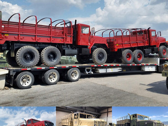 M923A2 900 Series 5 Ton 6x6 (2)- Shipped- Houston, Texas