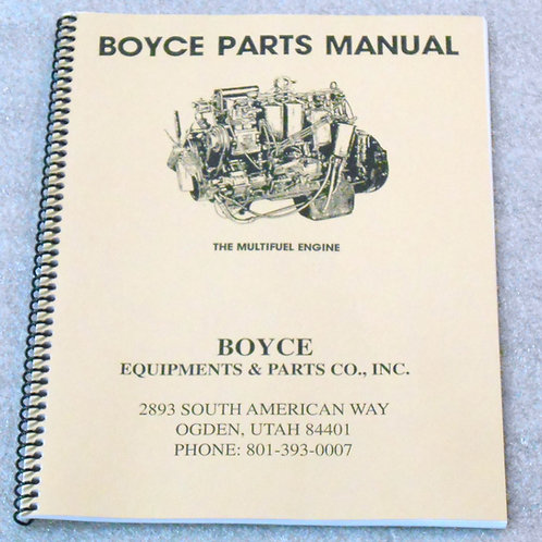 Boyce Parts Manual - Multifuel Engine