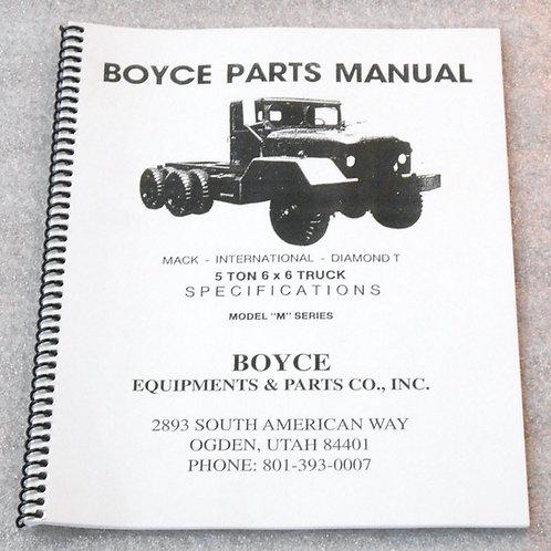Boyce Parts Manual - 5 Ton 6X6