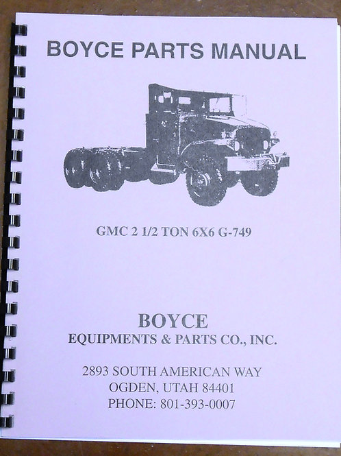Boyce Parts Manual - GMC 2.5 Ton 6X6