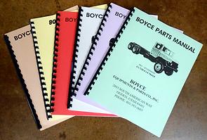 Boyce Parts Manuals