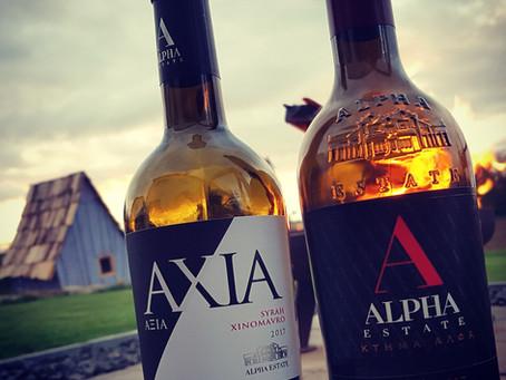 Axia (Syrah-Xinomavro) 2017 und S.M.X 2017 von Alpha Estate