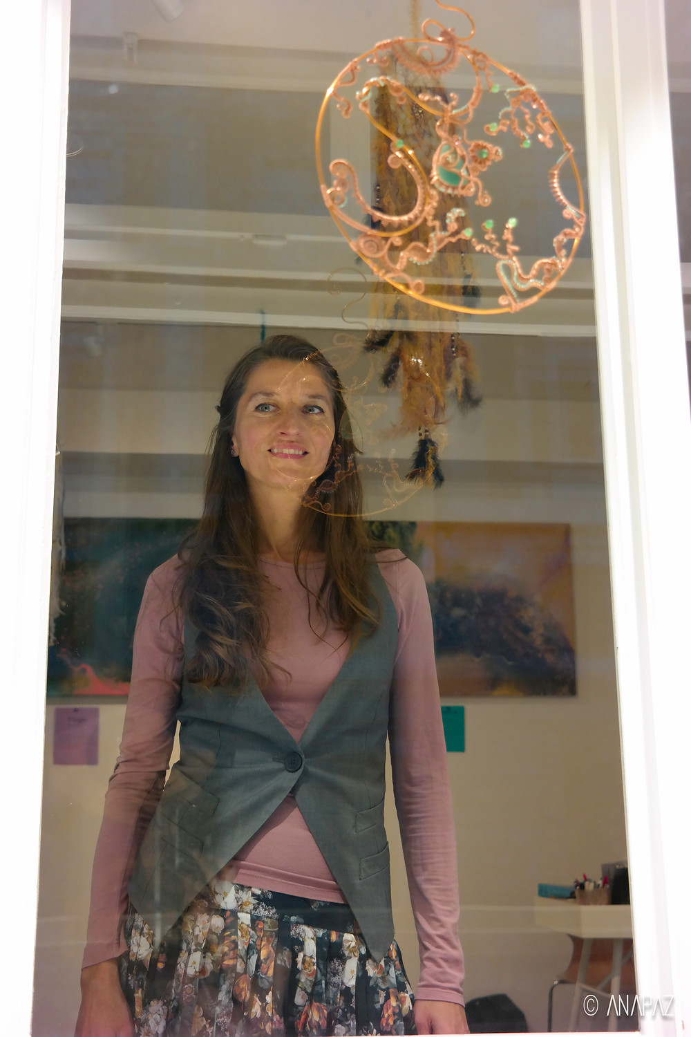 Happy me at the first exhibition in Zürich - Tart Gallery
