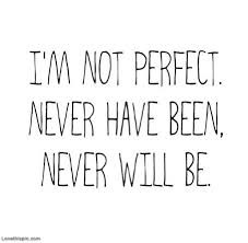 I m not perfect but I do my best