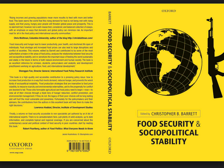 Food Security and Sociopolitical Stability edited by Christopher B. Barrett